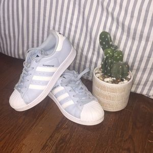 Blue & white adidas (women/teens)